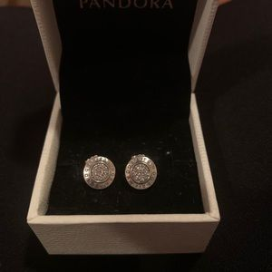 Pandora Collection Round Earrings